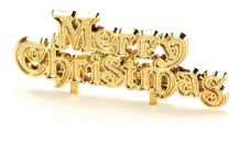 Gold Merry Christmas Cake Topper